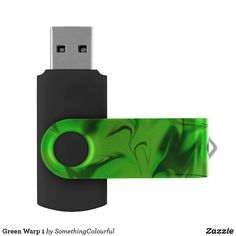 Green Warp 1 Flash Drive Usb Drive, Usb Flash Drive, Dog Design, Custom Design, Colorful Abstract Art, Different Shades Of Green, Abstract Pattern, Make It Yourself