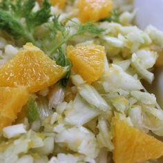 Rezept Fenchelsalat mit Orangen - vegan - von Heimchen - Rezept der Kategorie Vorspeisen/Salate