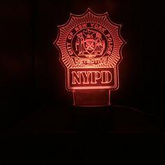New York Police Detective Gift Light NYPD #RetirementGift #NYPD #EdgeLitSign #PoliceDeptGift #NypdRetirementGift #NewYorkPoliceDept #Detective #CopSpecialOps #CustomLogo #GirlfriendBoyfriend Gifts For Cops, Police Gifts, Custom Badges, Custom Logos, New York Police, Lighting Logo, Police Detective, Pop Display, Desk Light