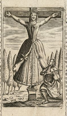 An image of the strange St Kümmernis, whose statue Sophie passes in Chapter 2