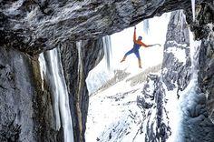Mammut Pro Team Alpide ronija Dani Arnold läbib Breitwangflue osa