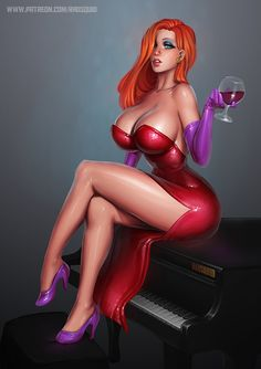 "nomad55: "" Jessica Rabbit - 29th Pretty Picture by essentialsquid """