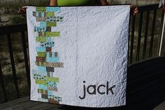 """Don't know if I'd want a name on a quilt I'd make, but what about a word like """"sleep"""" or """"peace"""" or """"relax""""? #quilt"""