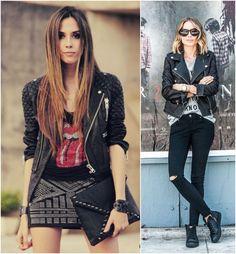 Looks básicos com jaqueta de couro preta
