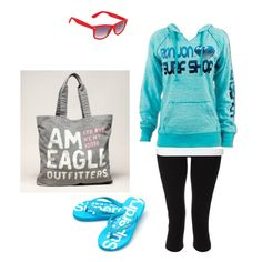 cozy surf style outfit, created by canadianmerl on Polyvore