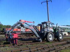 Lannen - For works on railway  #Lannen #backhoes #machine #railway