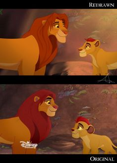 The Lion Guard Screenshot Redraw and Comparison by toodamnfancy - DeviantArt
