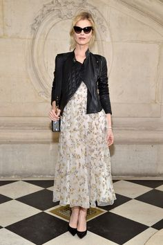 Eva Herzigova attends the Christian Dior show as part of the Paris Fashion Week Womenswear Fall/Winter 2017/2018 at Musee Rodin on March 3, 2017 in Paris, France.