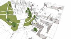 The new-look Cathedral Green