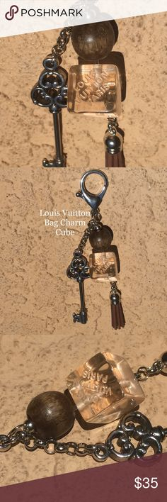 "Cube Bag Charm Louis Vuitton LV Key Chain Bag Charm Key Chain - Silver Hardware - ""Cubed""  All pieces are one of a kind. No two are ever the same! So....get this exact one while it lasts. I only use Authentic Louis Vuitton Materials, and as many pieces from ripped up Louis Vuitton Bags as I possibly can!!   I craft fine jewelry and am a long time trusted seller in this area, and online.   An exceptional shopping experience guaranteed. Louis Vuitton Accessories"