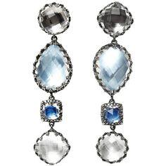 Larkspur & Hawk Sadie 4-Drop Earrings ($1,900) ❤ liked on Polyvore featuring jewelry, earrings, jewelry /, kirna zabete, blue earrings, earring jewelry, drop earrings, blue jewelry and blue jewellery
