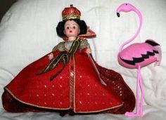 "Madame Alexander, Alice in Wonderland, 10"" Queen of Hearts 1992 Limited Edition of 500 for Walt Disney Showcase of Dolls"