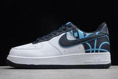 Nike Nba Air Force 1 07 Lv8 White Black 823511 104 Casual Shoe TopDeals
