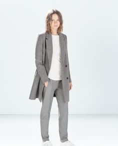 STRUCTURED COAT from Zara $149.00. Oh, how I love grey!