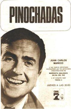 PINOCHADAS, programa de TV protagonizado por Juan Carlos Mareco, Pinocho. Canal 7, Buenos Aires, década del 60.