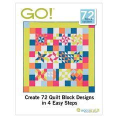 """Combine quilt blocks to create 6"""", 8"""", 9"""" and 12"""" pieced blocks like the 72 ideas shown, or come up with your own designs. Numbers on sample blocks coordinate with dies listed. Downloadable block ideas. Once you add item to shopping cart and checkout out, you'll be able to download your 72 Block Ideas from your Account page. Pattern Downloads are best viewed using the latest versions of  Adobe Reader  and Internet Explorer . Compatible with these fabric cutters:GO! BabyGO!Studio**Must use…"""