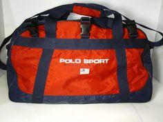 vintage ralph lauren polo sport duffle/gym bag vtg 90's    eBay