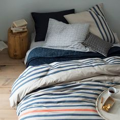 Nomad Coverlet + Shams - Deep Sea | west elm