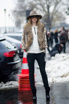 Street Style: The Opulent Clothes at Couture - Anya Ziourova, fashion director at Tatler Russia
