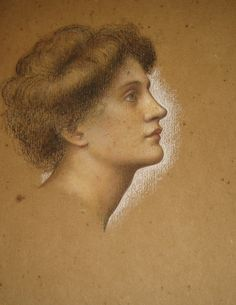 Study for an Oil Painting - Evelyn De Morgan, date unknown