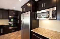 Espresso Cabinets With Granite - Bing Images