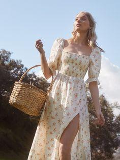 6d87145892f4 Marabella Dress | Reformation Shoulder Dress, Off The Shoulder, Bohemian,  Vintage Fashion,