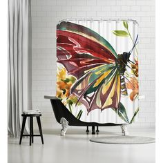 Americanflat Butterfly Shower Curtain