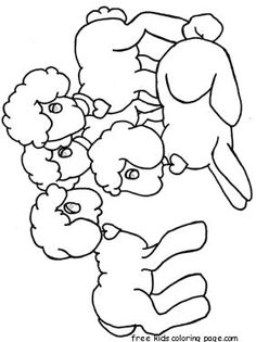 Printable Happy Easter Lambs Coloring Pages For Kids Fargelegge Tegninger Activ