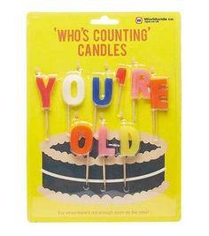 Bougies You're old - Achat Bougies d'Anniversaire - Cadeau Maestro