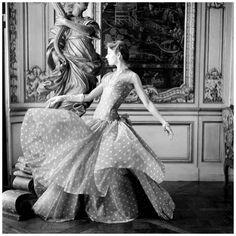 Madame Grès | by Henry Clarke, Vogue 1955 #vintage #1950s