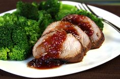 Crazy Glazy Roast Pork Tenderloin 1/4th of recipe (about 3.25 oz. cooked pork with 2 tbsp. glaze): 217 calories, 4g fat, 560mg sodium, 18g carbs, <0.5g fiber, 14g sugars, 24g protein