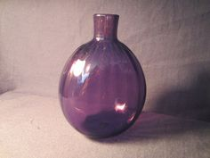 Hand Blown Amethyst Bottle by LadyNinaNana on Etsy, $65.00