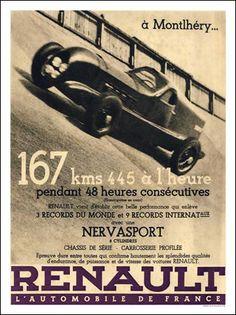 Renault - Automobile - Montlhéry - années 30
