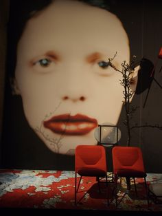 MOOOI collection, the unexpected welcome, Milan 2015. Backdrop Rahi Rezvani.  Photocredit Nanda Rave, Gimmii.nl