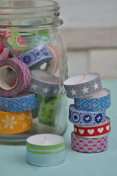 DIY, anleitung, Glücksteelichter, Teelichter mit Botschaft, kleine Geschenke selber machen, Mitbringsel