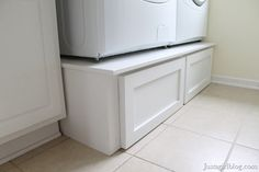 DIY Pedestal Drawers for laundry room