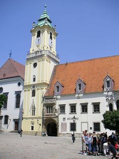 File:Bratislava-old town hall. Bratislava Slovakia, Town Hall, Old Town, Attraction, Places To Visit, Castle, Mansions, Architecture, House Styles