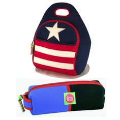 Americana is always in style, especially when toting the Dabbawalla Stars and Stripes lunch bag to school or work. Use together or individually. This set contains: 1 Ditty Bag, and 1 Lunch Bag in coordinated colors.   eBay!
