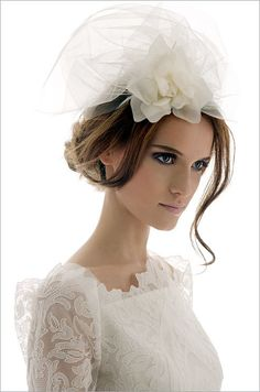 The Belle Headpiece, designed by Ksenia Golub for Elizabeth Fillmore, is a beautiful accent for an English-style wedding.
