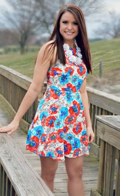 $36.99 with FREE SHIPPING! http://www.shopadorabelles.com/collections/dresses/products/everly-belle-bouquet-floral-dress
