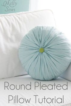 Round Pleated Pillow Tutorial - Melly Sews - Get the look of a hand-smocked pleated pillow in much less time!