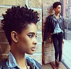 Tapered afro