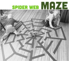 Large Spider Web Maze for Kids