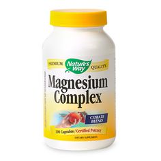 Nature's Way Magnesium | Muscle Aches, Restless Legs Syndrome (RLS), Insomnia, Constipation
