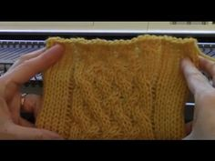 Chunky Woven Cable - YouTube