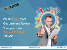 Start Your own travel portal? Then here is your Solution, eTravos - leading Travel Portal Development company, We provide online booking platform for flight, buses, hotels, Cars, holiday packages, Recharge.