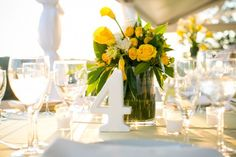 Gray + Yellow Real Wedding: April and Adrien's Yellow Wedding in Warrenton, Virginia by Lauryn Prattes with Table 6 Productions DC