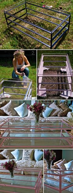 spray paint coffee table transformed