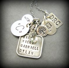 Initial Necklace Tree of Life Sterling by YouCanQuoteMeOnThat, $84.00