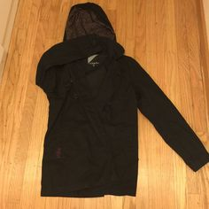 Volcom hooded raincoat Blue raincoat, gently used, volcom Volcom Jackets & Coats